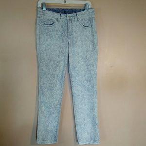 Jag 0 Blue Printed Slim Ankle Jeans
